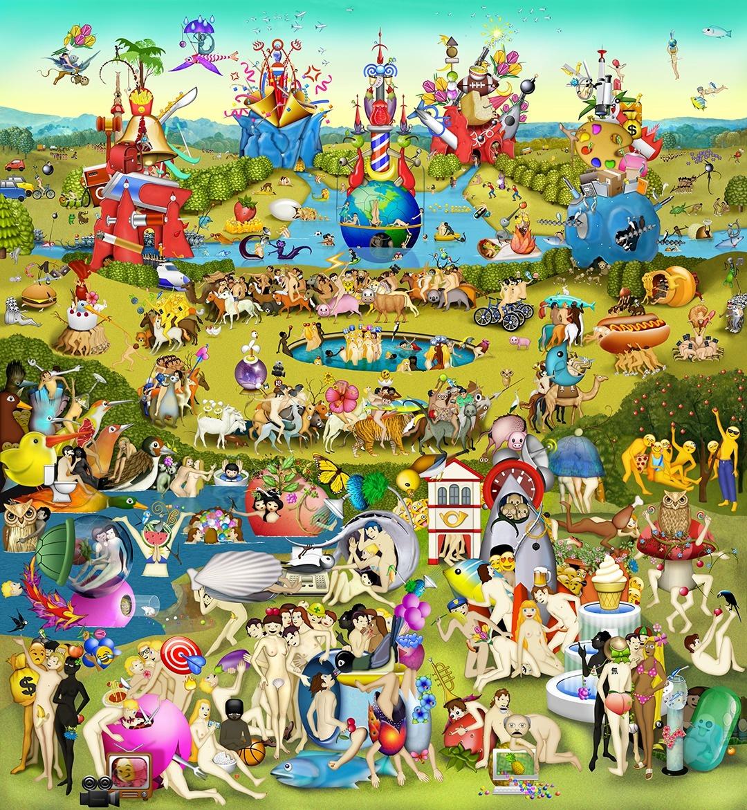 puzzle el jardin de las delicias le jardin des d lices puzzle mich le wilson