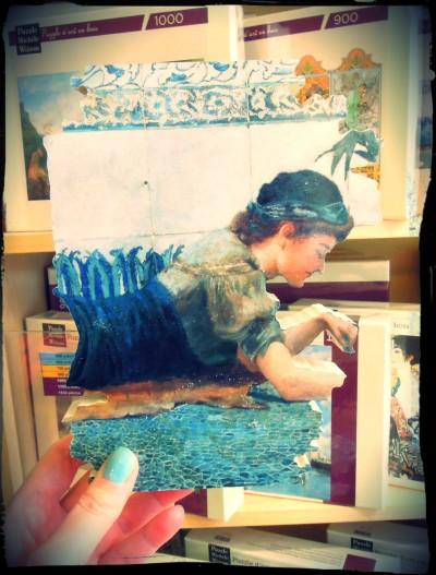 Puzzle Mosaique bleue